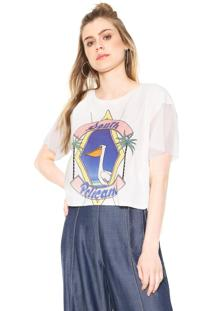 ... Blusa Cropped Oh Boy South Pelicans Off White 48afaec7f2d