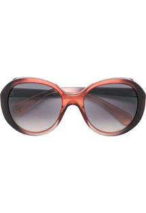 4796fc9a9b33e R  1731,00. Farfetch Óculos De Sol Redondo De Sol De Grife Feminino Kj Gucci  Haste Marrom ...