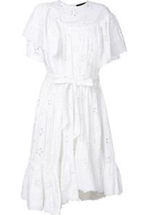 Simone Rocha Vestido Com Renda - Branco