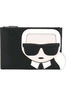 Karl Lagerfeld Clutch K/Ikonik Com Zíper - Preto