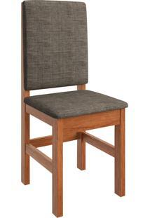 Cadeira Estofada Zamarchi 2012, Canela Tecido Linho