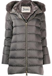 Herno Zip-Up Hooded Jacket - Cinza