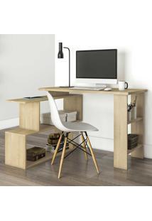 Mesa Para Computador 4 Nichos Design Msm434 Nature - Móvel Bento