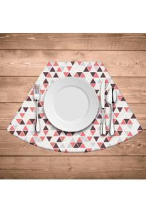 Jogo Americano Para Mesa Redonda Wevans Multi Triângulos