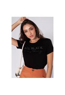 Camiseta Preview All Black Preto