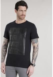 """Camiseta """"Real Or Digital"""" Preta"""