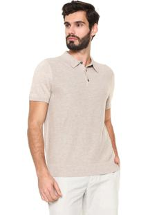 Camisa Polo Banana Republic Standard Fit Básica Bege