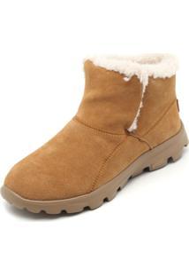 Bota Couro Skechers Chugga Imprint Caramelo