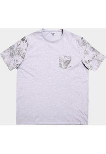 Camiseta Plus Size All Free Estampada Masculina - Masculino-Mescla Claro