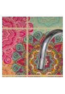Adesivo De Azulejo Floral Boho Para Cozinha 20X20 - 24Un