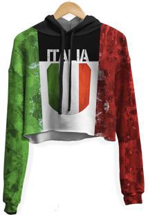 Blusa Cropped Moletom Feminina Over Fame Italia Md01