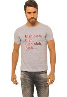 Camiseta Masculina Joss Blah - Masculino-Cinza