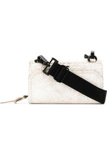Diesel Cracked Effect Clutch Bag - Branco