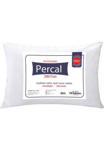 Travesseiro Percal 200 Fios Plus Cor Branco - 43603 - Sun House