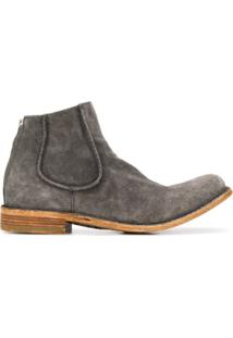 Officine Creative Le Grand Textured Ankle Boots - Cinza