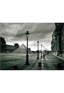 Jogo Americano Decorativo, Criativo E Descolado | Museu Do Louvre Em Paris Na França - 30 X 40 Cm
