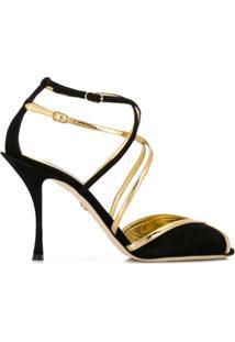 Dolce & Gabbana Sandália Keira De Camurça - Preto