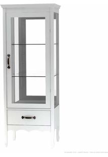 Cristaleira Com Vidro Luiza 1 Porta Branco - Urbe Móveis
