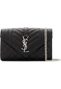 Saint Laurent Monogram Shoulder Bag - Preto