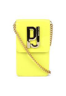 Bolsa Petite Jolie Mini Bag Phone Case Feminina - Feminino-Amarelo