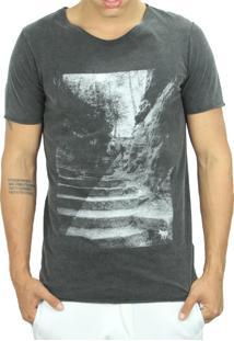 Camiseta Wolfield Rio Dupla Face Go Up Or Down Preta