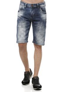 Bermuda Jeans Masculina Azul - Masculino