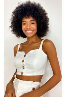 Blusa Decote Quadrado Off White