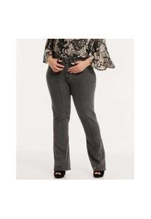 Calça Plus Size Feminina Jeans Flare