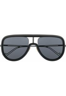 Fendi Eyewear Óculos De Sol Aviador - Preto