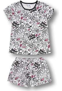 Pijama Marisol Adulto Feminino - 10316254F Branco