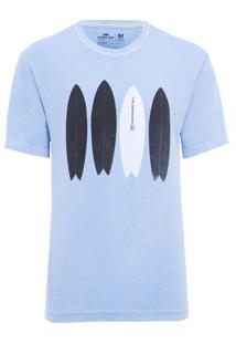 Camiseta Masculina Stone Fish Board - Azul
