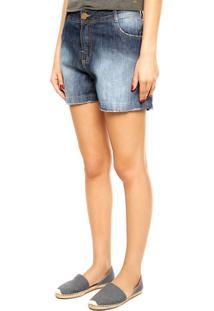 Bermuda Jeans Dimy Boyfriend Azul
