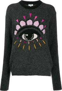 Kenzo Eye Embellished Jumper - Cinza