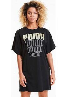Vestido Puma Rebel Light Weight Feminino - Feminino-Preto+Dourado