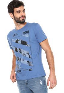 6de8dd1fb6 Camisa Pólo Estampada Gola Redonda masculina