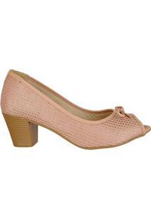 Sapato Peeptoe C Lacinho Di Santinni 62782023