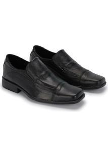 Sapato Social Verniz Schiareli Em Couro - Masculino-Preto