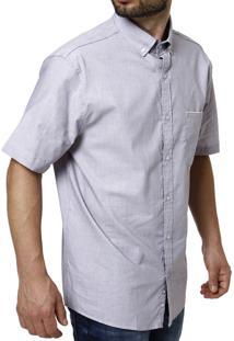 Camisa Manga Curta Sibra Lilás