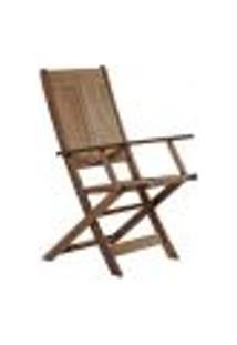 Cadeira Dobrável Acqualung Com Braço Nogueira