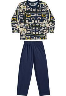 Pijama Quimby Adulto Azul