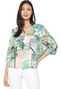 Camisa Lez A Lez Kanu Off-White/Verde