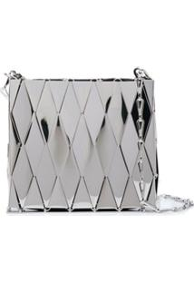 Paco Rabanne Metallic Tile Shoulder Bag - Prateado