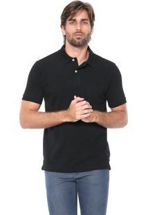 Camisa Polo Reserva Reta Logo Preta
