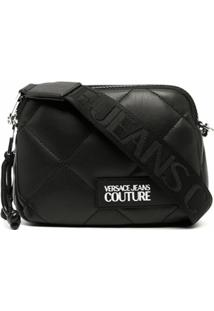 Versace Jeans Couture Bolsa Transversal Matelassê - Preto