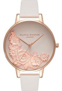 Relógio Olivia Burton Feminino Couro Nude - Ob16Fs85