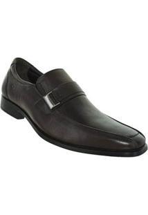 Sapato Preto Cosmo Flex Stretch Couro Democrata 57938026