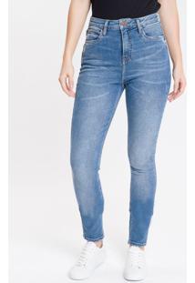 Calça Jeans Premium Stretch - Azul Médio - 34