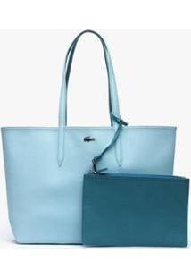 Bolsa Lacoste Feminina - Feminino-Azul Claro