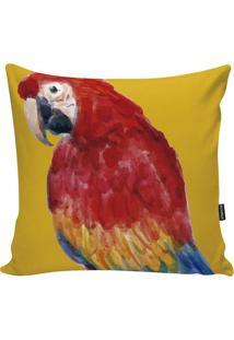 Capa Para Almofada Fauna- Amarela & Vermelha- 45X45Cstm Home
