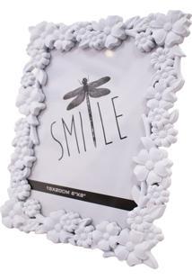 Porta Retrato Minas De Presentes Flores 1 Foto 15X20Cm Branco